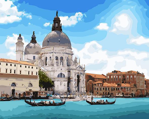 Картина за номерами 40х50см. gx25815 Дивовижна Венеція Rainbow, фото 2