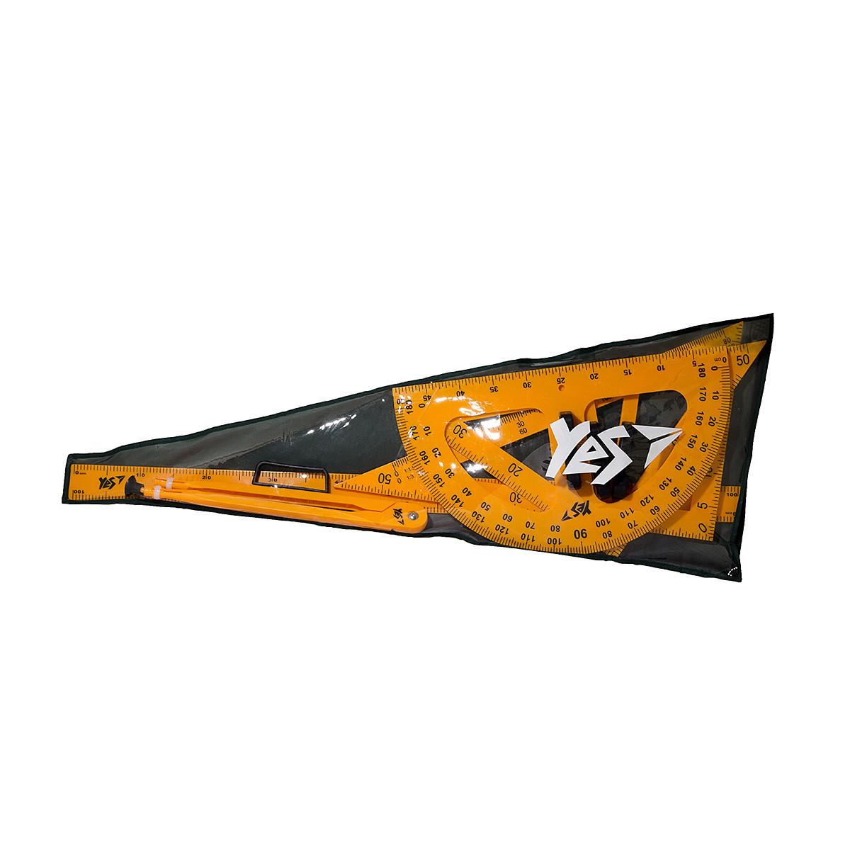 Набор измерительных принадлежностей YES для школьной доски (5 предметов) в чехле