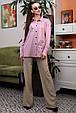 Рубашка 1327.4012 сиреневый с черной вышивкой (S-XL), фото 2