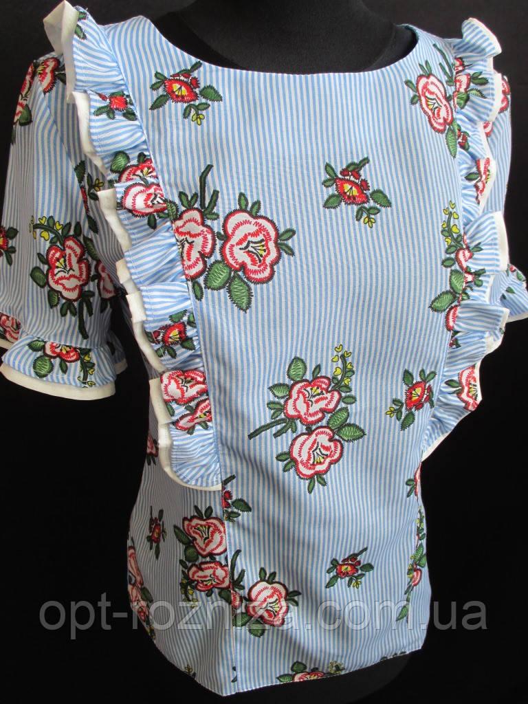 Жіночі блузи з рюшами на літо