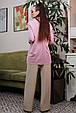 Рубашка 1327.4012 сиреневый с черной вышивкой (S-XL), фото 4