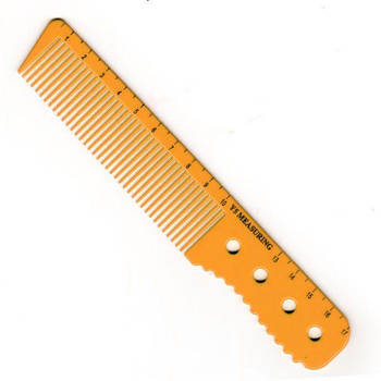 Оранжевая расческа с ручкой и линейкой Y5 Exotic color line 17 см. Y5-888 ORN