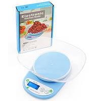 Весы кухонные QZ-161A 5кг (1г) электронные с чашей, фото 1