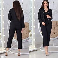 Костюм жіночий брючний брюки і піджак батал розміри 48 50 52 54 Новинка є багато кольорів