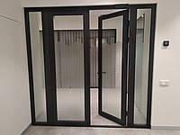 Алюминиевые противопожарные сертифицированные двери с классом огнестойкости EI60