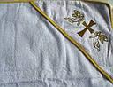 Крыжма крестильная с уголком Золотой ангел, фото 3
