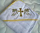 Крыжма крестильная с уголком Золотой ангел, фото 2