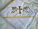 Крыжма крестильная с уголком Золотой ангел, фото 4