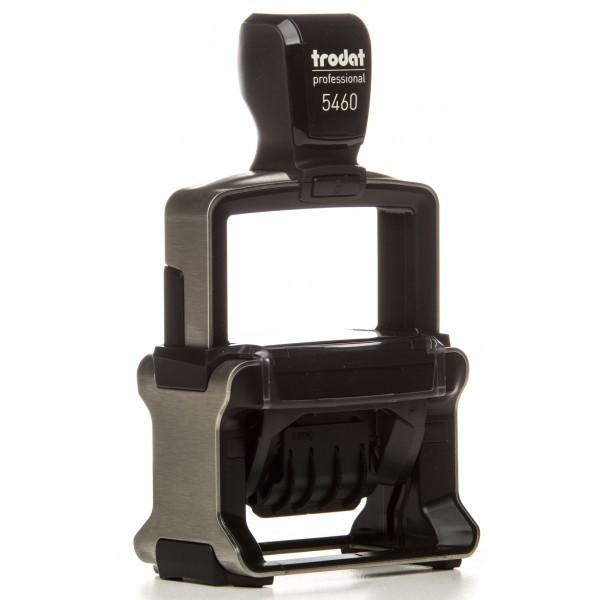 Датер со свободным полем металлический прямоугольный Trodat Professional 5460 56х33 мм чёрный