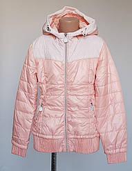 Весенняя куртка с резинкой в поясе для девочки-подростка