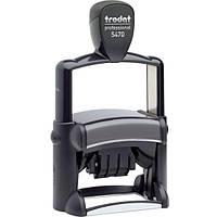 Датер со свободным полем металлический прямоугольный Trodat Professional 5470 60х40 мм чёрный