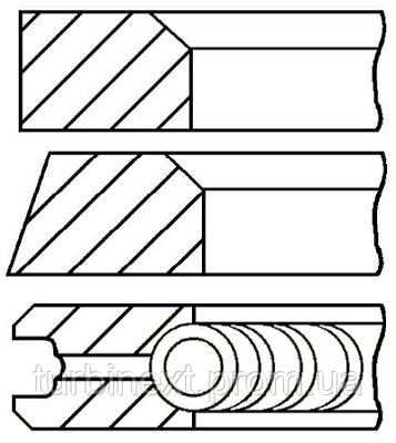 Кольца поршневые VW 76.5 (1.75/2/3) 1.6D/2.0D/2.4D GOETZE 08-405200-00