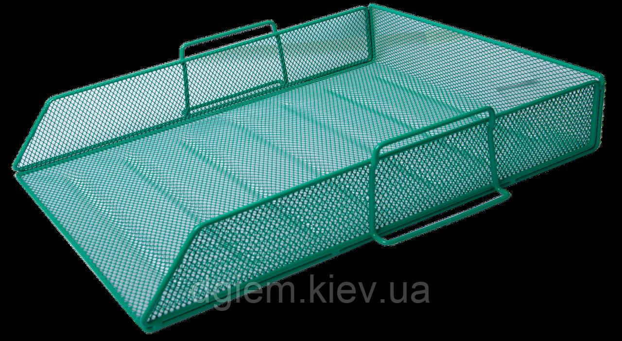 Лоток горизонтальный металлический зеленый