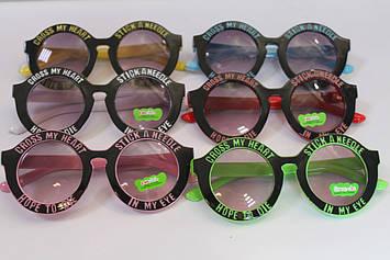 Дитячі сонцезахисні окуляри круглі з написом 1 шт.