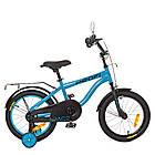 Детский велосипед колеса 16 дюймов PROFI SY16151 голубой, фото 2
