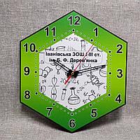 Часы для кабинета химии. Химические элементы 45х45 см