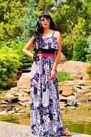Платье летнее длинное в пол с воланами расцветка газетка, фото 1