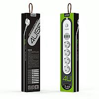 Сетевой фильтр LDNIO SE4432 4 USB порта, фото 1