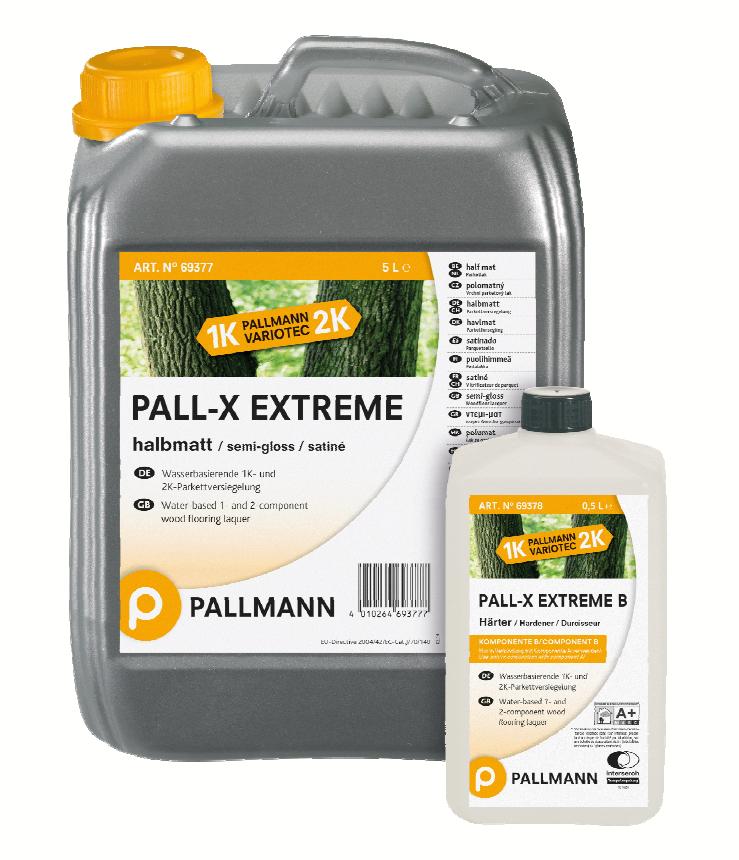 1-к та 2-к лак на водній основі Pallmann PALL-X EXTREME k.A, п/мат, k.В