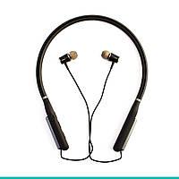 Bluetooth наушники Aspor A648S LED (черный / золото / графит)