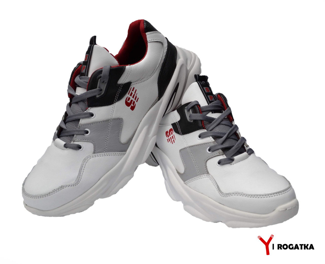 Мужские кожаные кроссовки SPLINTER Белые