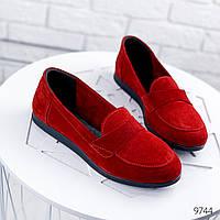 Туфли женские Terry красная замша 9744, фото 1
