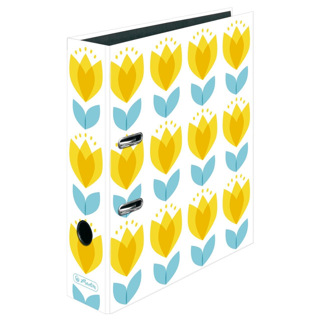 Папка-реєстратор Herlitz А4 8см Fresh Breeze Tulips Тюльпани