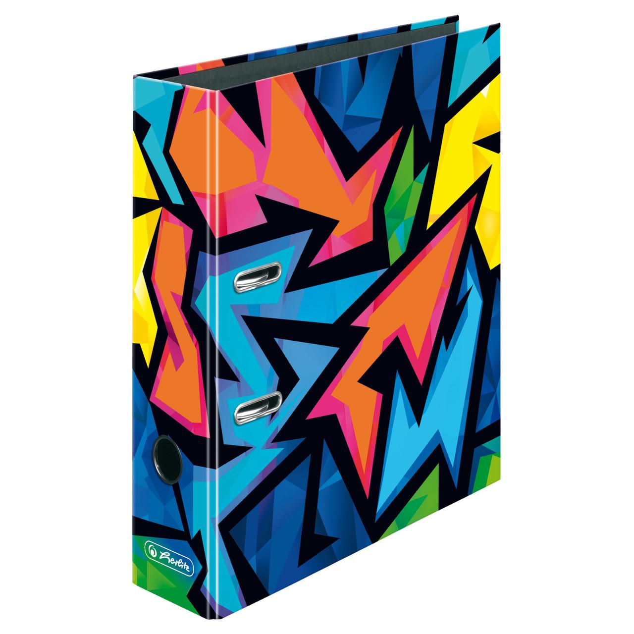 Папка-реєстратор Herlitz А4 8см Neon Art