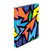 Папка-реєстратор на кільцях Herlitz А4 30мм Neon Art