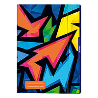 Папка картонна на гумці А4 Herlitz Neon Art