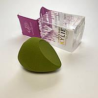 Спонж для нанесения основы, тонального крема, пудры, зеленый