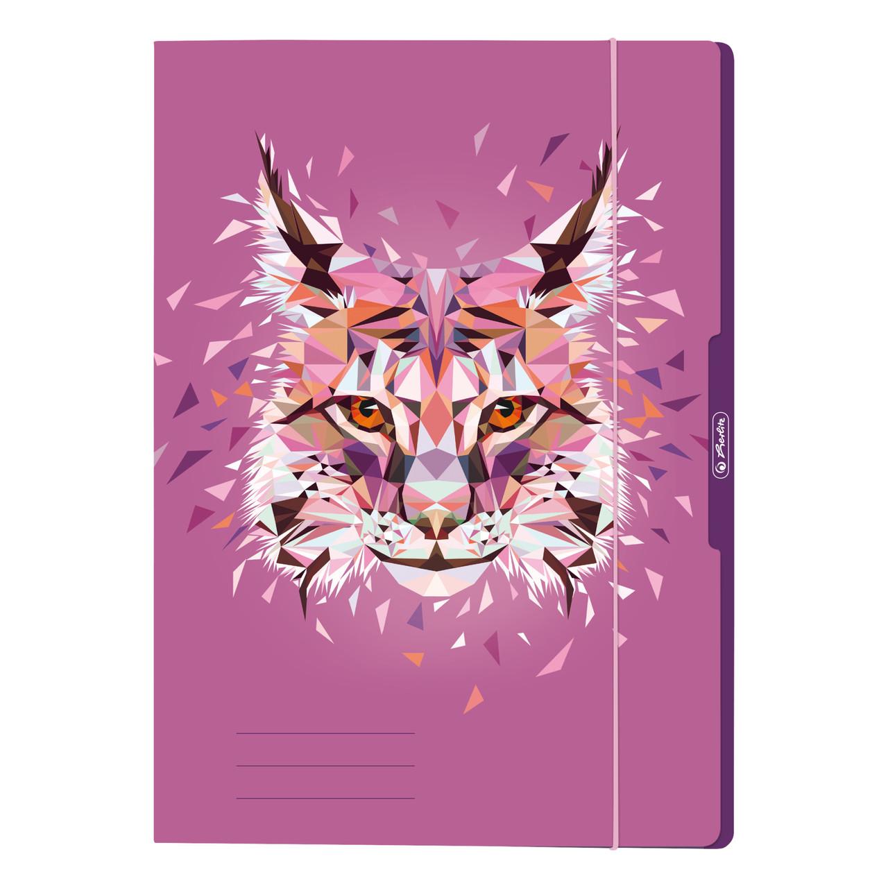 Папка картонна на гумці А4 Herlitz Wild Animals Рись