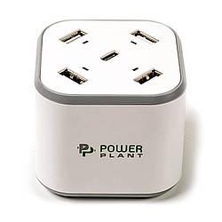 Сетевое зарядное устройство PowerPlant 4xUSB + Type-C 5V 8.4A (SC230112)