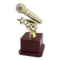 Статуэтка 57063 Золотой микрофон