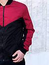 Бомбер Весняний чоловічий Червоно-чорний, фото 2