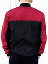 Бомбер Весняний чоловічий Червоно-чорний, фото 3