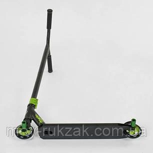 Самокат трюковый Best Scooter 75443, HIC-система, алюминиевый диск, пеги, черно-зелёный., фото 2