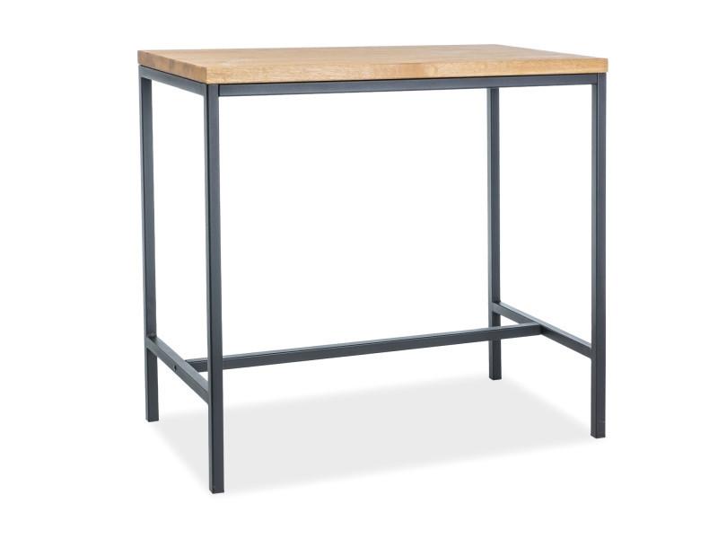 Барный столик METRO цвет дуб/черный (Signal)