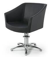 Кресло парикмахерское GALA Италия + база Star, в обивке черного цвета