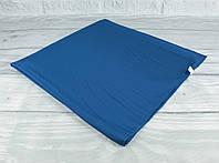 Шелковый шейный платок Accessories 0011-20 синий однотонный, фото 1