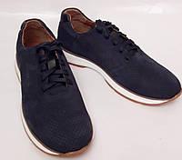 Кроссовки мужские синие.Туфли в спортивном стиле Faber