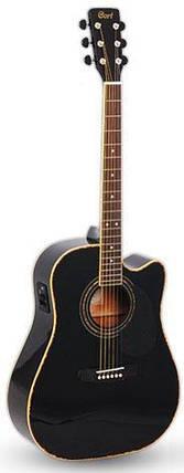 Электро-акустическая гитара Cort AD 880 CE BK, фото 2