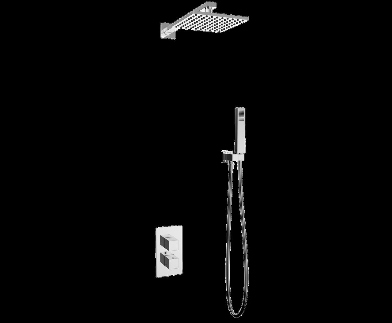 Душевая система с термостатом скрытого монтажа