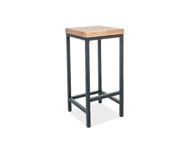 Барный столик METRO H-1 цвет  дуб/черный (Signal)