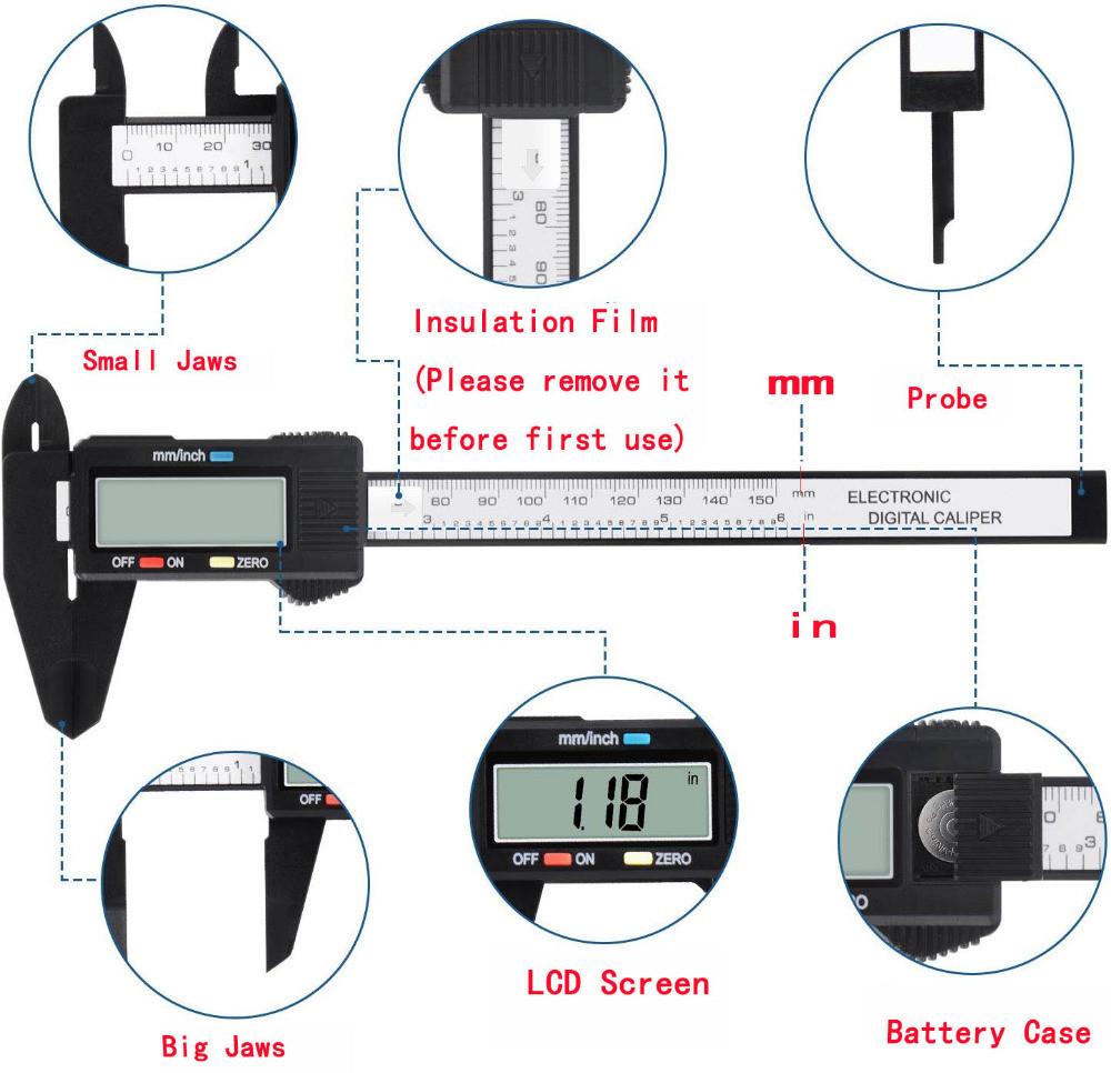 Цифровий штангенциркуль електронний 150 мм