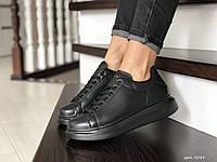 Кроссовки женские,подростковые  Alexander McQueen,черные, фото 1