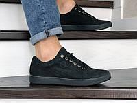 Мужские кожаные кроссовки,кеды Wrangler,черные