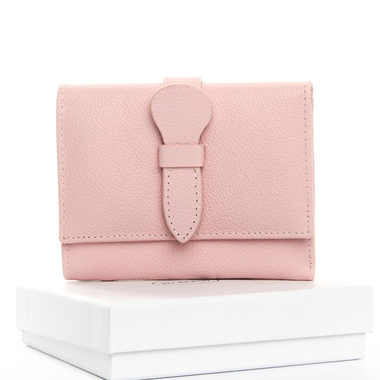Стильный женский кошелек из натуральной кожи DR. BOND разные цвета в коробке