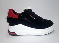 Женские кожаные кроссовки на платформе ТМ Lonza, фото 1