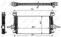 NRF 30270 Радіатор наддуву для OPEL ASTRA J, OPEL ASTRA J Sports Tourer, VAUXHALL ASTRA Mk VI (J) седан, VAUXHALL ASTRA Mk VI (J) GTC